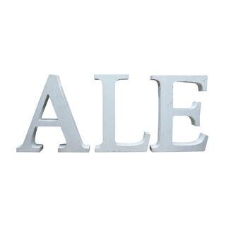 Vintage Ale Sign Letters
