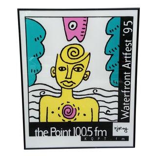 Waterfront Artfest 1995 Framed Pop Art Poster