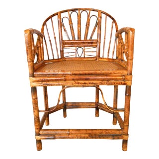 Chinese Chippendale Bamboo Chair
