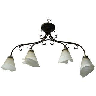 4-Light Calla Lily Chandelier
