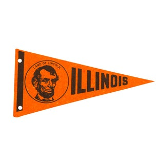 Illinois Land of Lincoln Felt Flag
