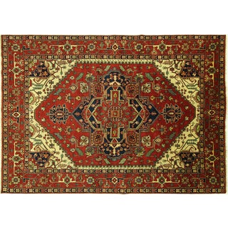 Red Hand Knotted Heriz Area Rug - 10' x 14'3""
