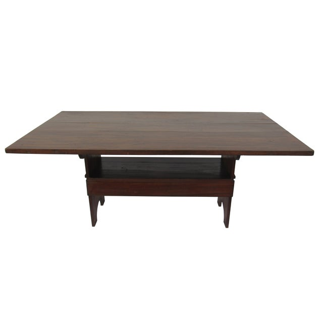 Image of Antique Farmhouse Trestle Table/Bench