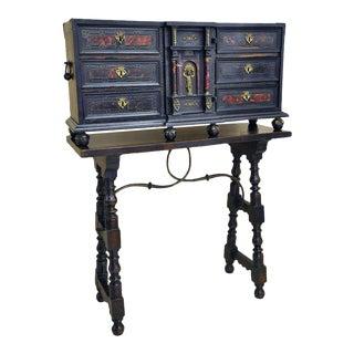 19th Century Spanish Walnut Bargueno Cabinet