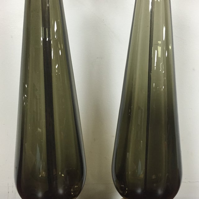 Image of Murano Glass Table Lamps - A Pair