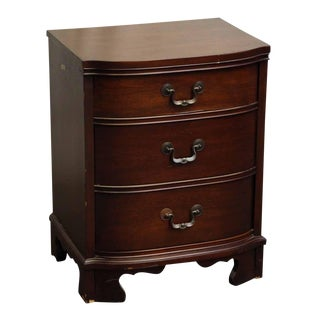 Mahogany Curve Front Nightstand
