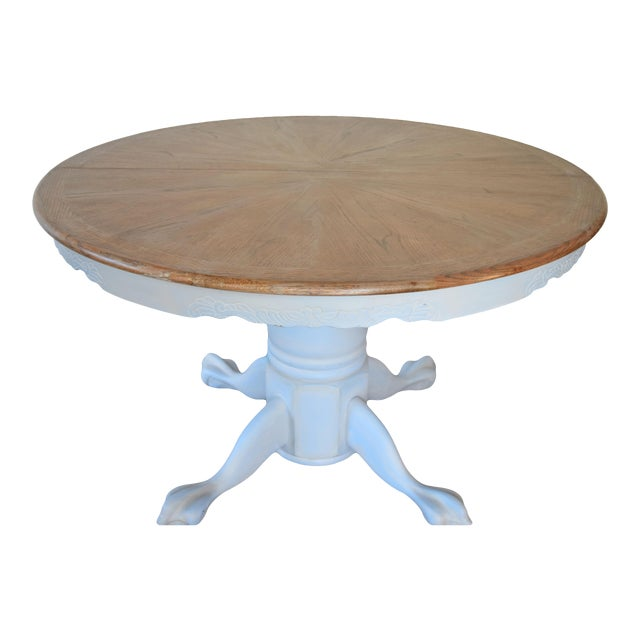 Chalk Painted French Country Dining Table - Image 1 of 7