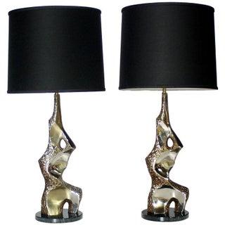 Sculptural Brutalist Torso Lamps by Laurel