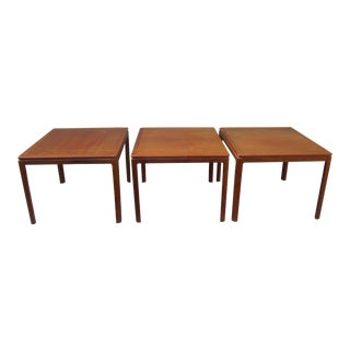 Dux Danish Modern Teak Side Table - Set of 3 Coffee Table End Table Mid Century Modern
