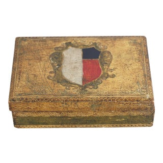 Gilt Florentine Box with Crest
