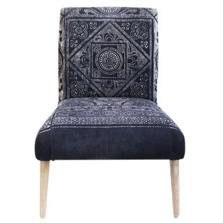 Indigo Dot Print Chair