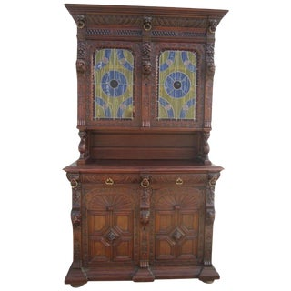 French Antique Cabinet Hutch Buffet Antique Furniture