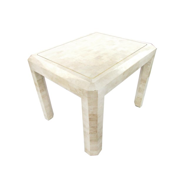 Tessellated Limestone Side Tables, Pair - Image 4 of 7