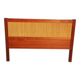 Mid-Century Danish Modern Full Size Teak Wood Headboard