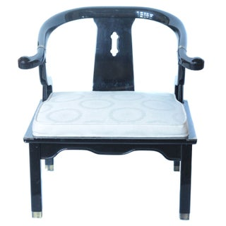 Ming Style James Mont Asian Armchairs - A Pair