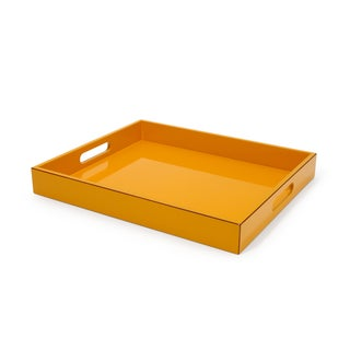 Orange Lacquer Serving Tray