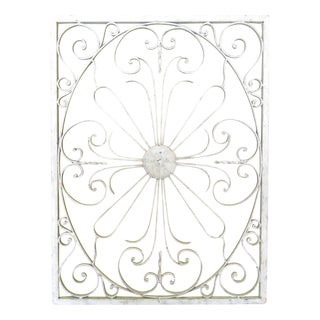 Vintage Painted Iron Wall Panel