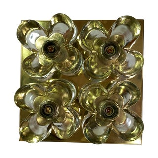 Murano Glass Flushmount Light by Mazzega
