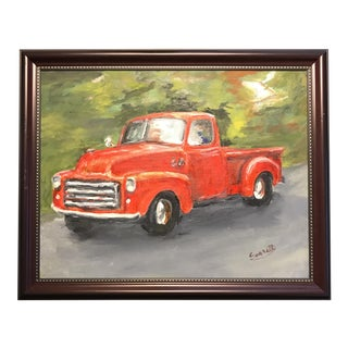 Old GMC Truck Oil Painting
