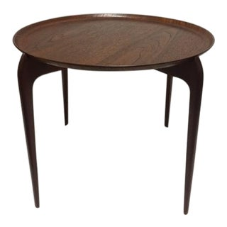 Swedish Moreddi Teak Round Tray Table