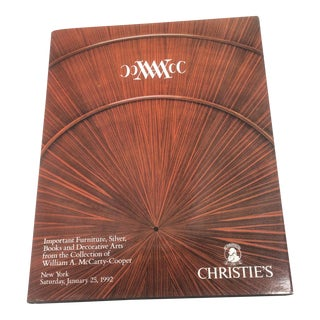 "1992 Christies ""William A McCarty Cooper"" Catalog"