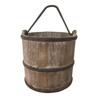 Primitive Chinese Wood Bucket