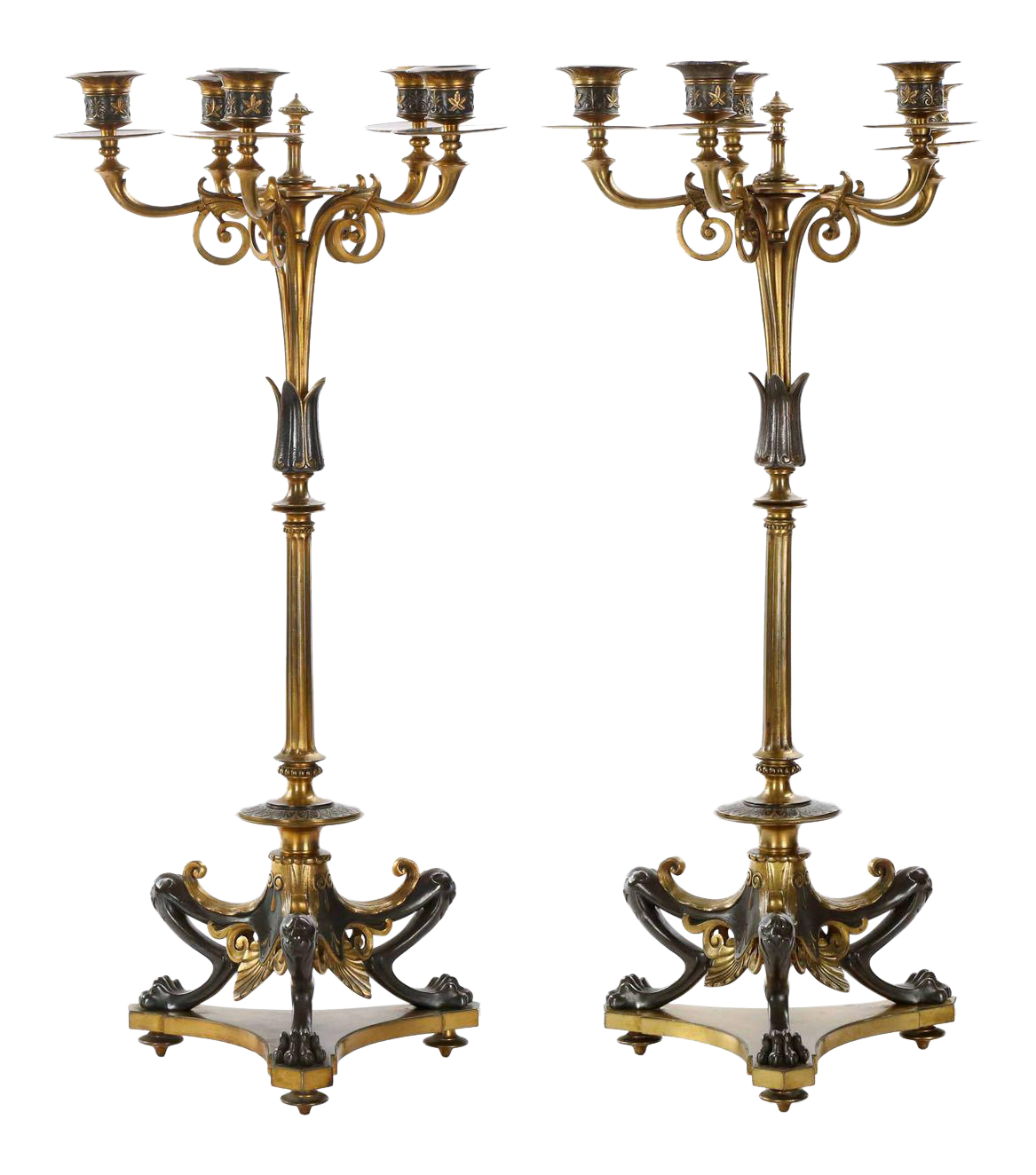 Napoleon III Candelabras by Victor Paillard Circa 1870 - A Pair  sc 1 st  Chairish & Vintage u0026 Used Gothic Lighting | Chairish azcodes.com