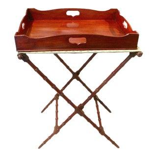 English Regency Mahogany Butler's Tray Table