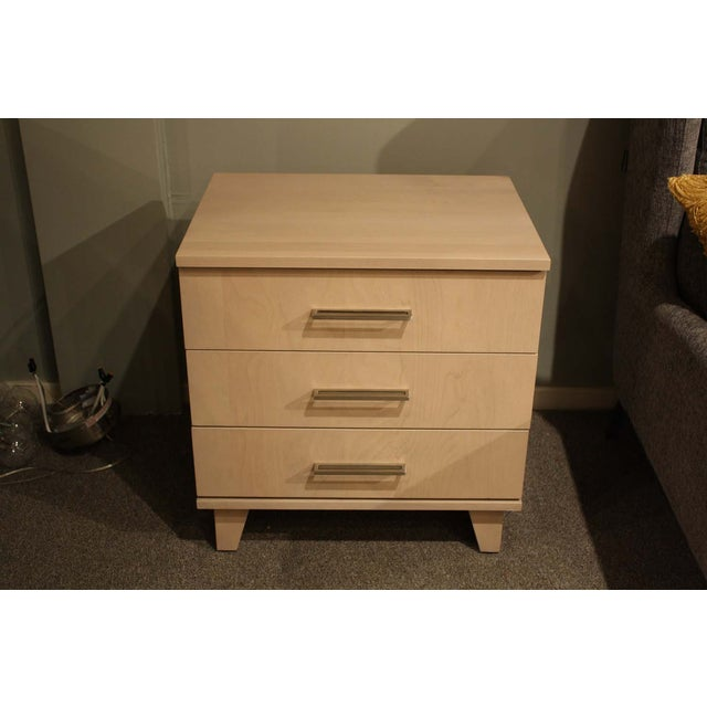 Image of Solid Light Wood 3-Drawer Nightstand
