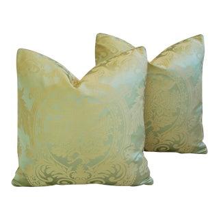 French Nobilis Palais Royal Silk & Velvet Pillows - a Pair
