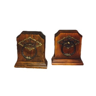 Mid-Century Wood Bookends - A Pair