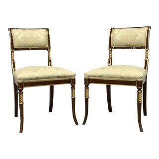 Gold Karges Regency Chairs - A Pair