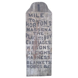 Tombstone-Shaped Trade Sign