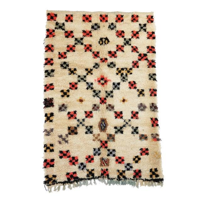 "Image of Vintage Azilal Moroccan Berber Rug - 4'2"" x 6'4"""