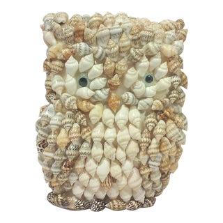 Vintage Shell Owl Figure