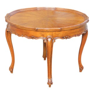 Monumental French Louis XV Coffee Table or Side Table Exotic Walnut,1900th Century