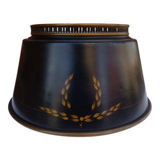 Black Tole Bouillotte Lamp Shade