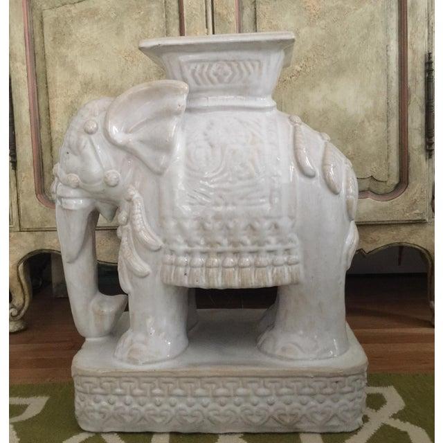 Elephant Shaped Terracotta Garden Seat / Stool - Image 2 of 11