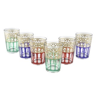 Moorish Design Tea Glasses - Set of 6