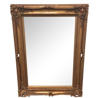 Beveled Mirror with Gold Gilt Frame