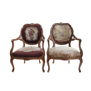 French Aubusson Chairs - Pair