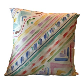 Hand Painted Pillow by Peter Fasano