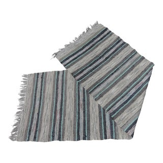 Swedish Vintage Handwoven Rag Rug - 2′5″ × 7′5″
