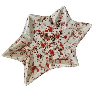 Mid-Century Ceramic Star Ashtray
