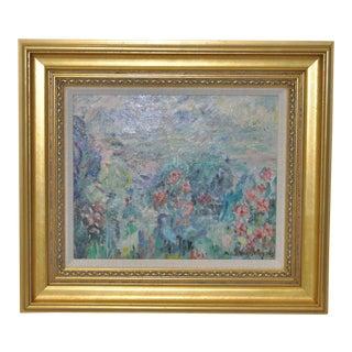 Abel George Warshawsky Original Floral Oil Painting