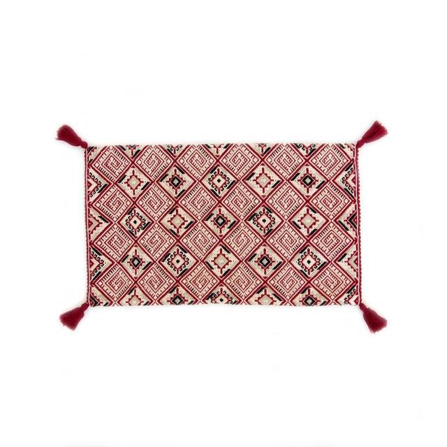 Red Diamond Handwoven Guatemalan Pillow - Image 1 of 4