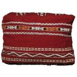 Image of Handmade Moroccan Striped Berber Pouf