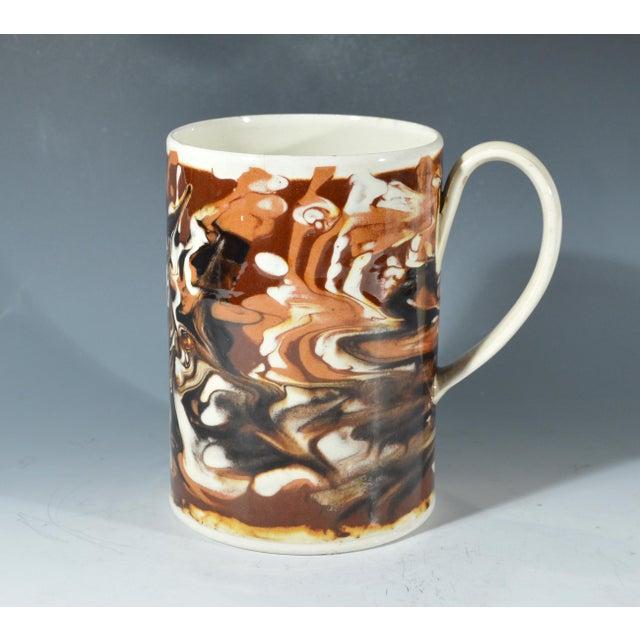 Marbled Creamware Mocha Pottery Tankard. - Image 2 of 6