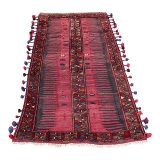 Vintage Handmade Kurdish Kilim - 3′6″ × 6′11″