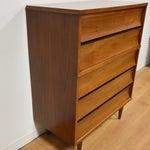 Image of Johnson Carper Walnut and Formica Tall Dresser